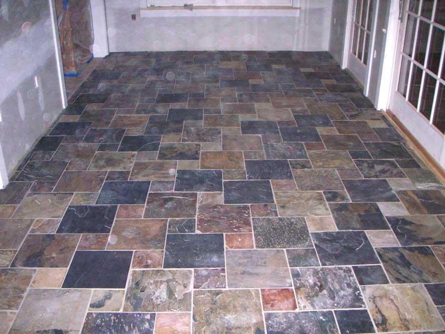 Natural Slate Tile 12 X 6 Pinwheel Pattern